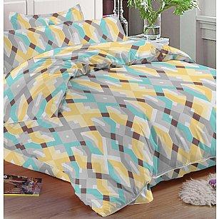 КПБ мако-сатин печатный Liam (2 спальный), многоцветный