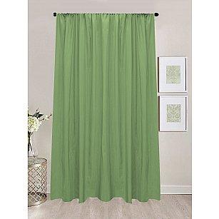 Шторы сатен репс Amore Mio RR 90168-27, зеленый, 200*270 см