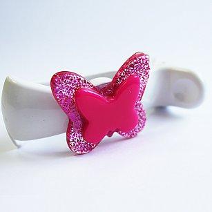 """Подхваты-зажимы """"Танго-бабочка"""", розовый"""