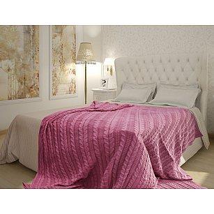 Плед Buenas Noches Cotton Braid, розовый, 180*210 см