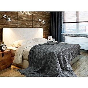 Плед Buenas Noches Cotton Braid, серый, 180*210 см
