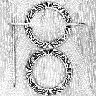Подхват-заколка MI C21-12 kryg, серебро