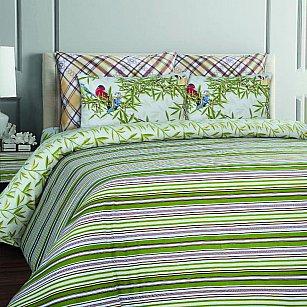 КПБ бязь Mona Liza British ESSEX Stripe green