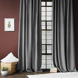 """Комплект штор с подхватами """"Джерри"""", серый, 140*270 см"""
