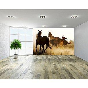"Фотообои ""Табун лошадей"""