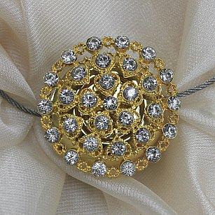 Магнит MI B49- gld tross 25 см, золото со стразами
