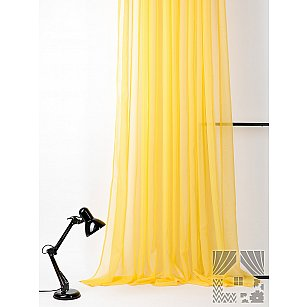 "Тюль ""Вилалио (желтый)"", 600*280 см-A"