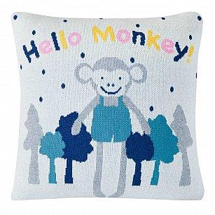 Наволочка декоративная детская Arya Hello Monkey, 35*35 см