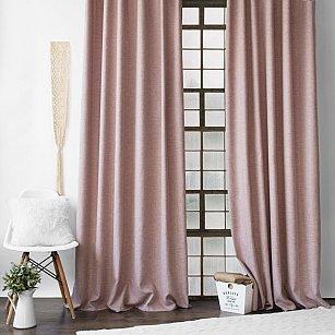 """Комплект штор с подхватами """"Конни"""", розовый, 140*270 см"""