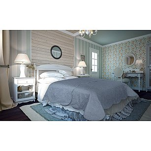 Покрывало атлас сатин Amore Mio Peisley, серый, 220*240 см