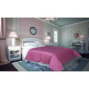 Покрывало атлас сатин Amore Mio Damask, розовый, 220*240 см