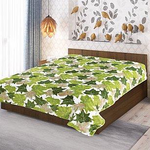 """Плед фланель Absolute печатный """"Листья клена"""", зеленый, 150*200 см"""