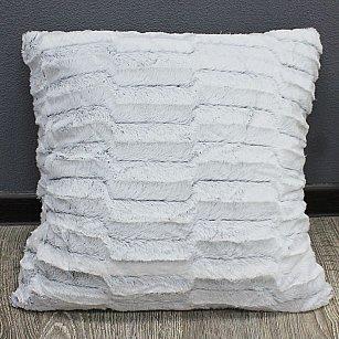 Наволочка декоративная Chinchilla Пестрый ворс, серый, 48*48 см