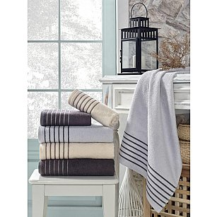 Комплект махровых полотенец TexRepublic Bamboo Marcus, серый