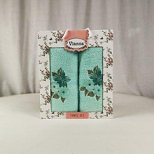 Комплект махровых полотенец Vianna Luxury Series дизайн 10 (50*90; 70*140)