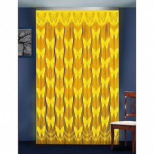 Кисея нитяная штора на кулиске бабочки №88801-02, желтый