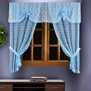 Комплект штор №88836, голубой