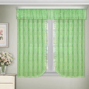 Комплект штор №88882, зеленый