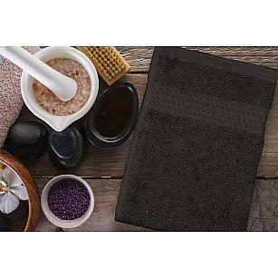 Полотенце махровое однотонное с бордюром Clasic, коричневый