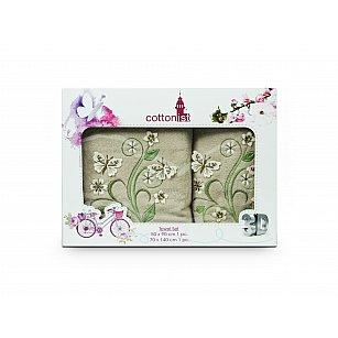 Комплект махровых полотенец Cottonist 3D Kadife дизайн 13 (50*90; 70*140)