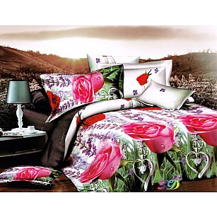 КПБ Микросатин Dream Fly дизайн Lavender Roses