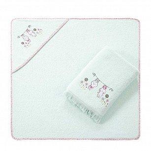 Набор детских махровых полотенец Arya Bunny (75*75; 70*140), мятный