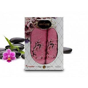Комплект полотенец Yagmur SAKURA GARDEN Cotton в коробке (50*90; 70*140), розовый