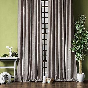 """Комплект штор """"Бэлли"""", серый, 145*270 см"""