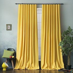 """Комплект штор """"Билли"""", желтый, 170*270 см"""