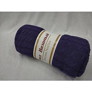 Плед вязаный акрил Buenas Noches Primo, фиолетовый