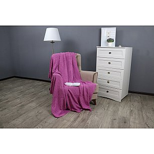 Плед вязаный акрил Buenas Noches lta Primo, розовый, 180*200 см
