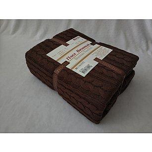 Плед вязаный Buenas Noches a Molto, коричневый, 150*200 см