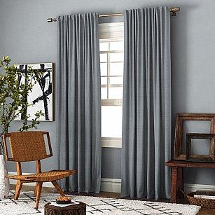 Комплект штор Ибица, серый