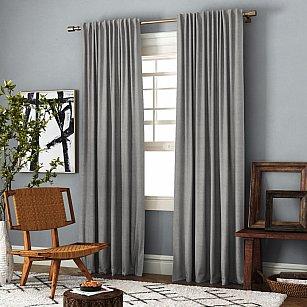 Комплект штор Ибица, бежево-серый