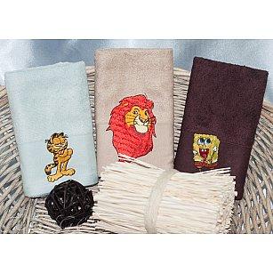 Детский набор полотенец Camomilla Bamboo, 30*50 см - 3 шт, голубой, бежевый, коричневый
