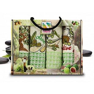Набор кухонных полотенец Nilteks Gualite, 50*70 см - 4 шт, салатовый, зеленый