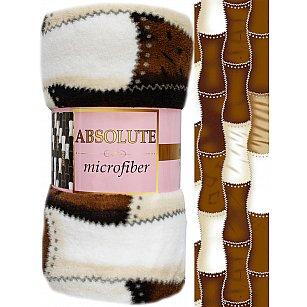 """Плед микрофайбер Absolute """"Бамбук"""", коричневый, 150*200 см"""
