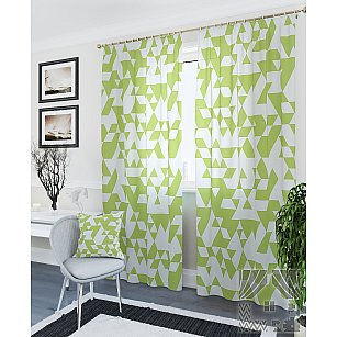 """Комплект штор """"Невис-К"""", зеленый, 260 см"""