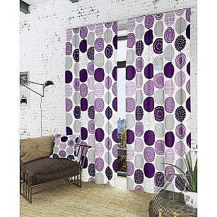 """Комплект штор """"Роули-К"""", фиолетовый, 260 см"""