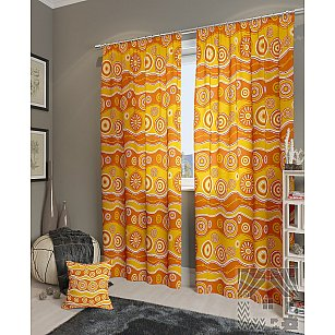 """Комплект штор """"Тимор-К"""", желтый, оранжевый, 260 см"""