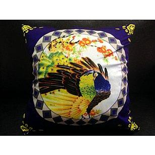 Наволочка 3D односторонняя, фиолетовый, желтый, 50*50 см