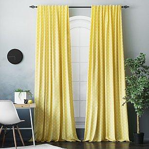 """Комплект штор """"Сири"""", желтый, 170*270 см"""