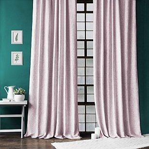 """Комплект штор с подхватами """"Моррис"""", розовый, 140*270 см"""