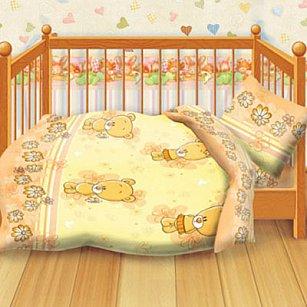 КПБ детский бязь 'Кошки-мышки' КДКм-1 рис.8350-2 Мишутки