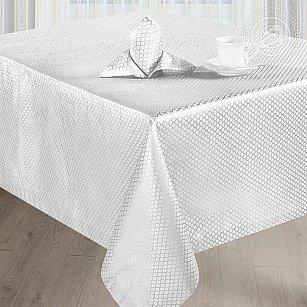 """Скатерть с салфетками """"Мелисса"""", прямоугольная, белый, 150*260 см-A"""