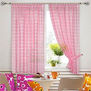 "Шторы ""Кати"" дизайн -4, розовый"