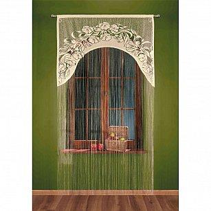 Кисея нитяная штора Ivetta на кулиске, Кремовый, 120*250 см