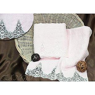 Комплект полотенец Barracouta Кружево (Cotton) в коробке (50*90; 70*140), розовый