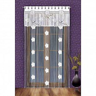 Кисея нитяная штора Serrano на петлях, Белый, 150*250 см
