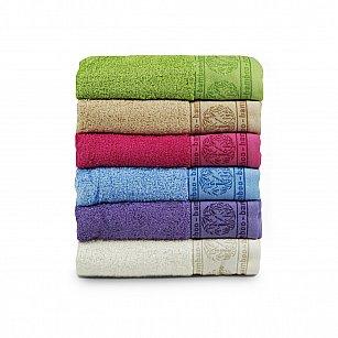 Комплект махровых полотенец El Flower Bamboo дизайн 1, 50*90 см - 6 шт